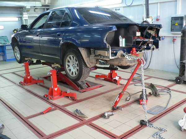 Кузовной ремонт на стапеле